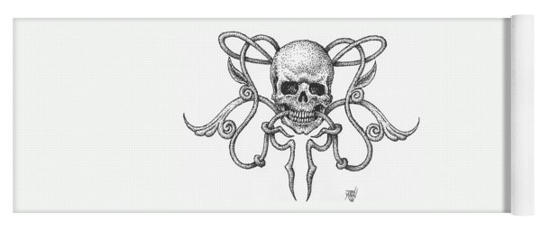 Skull Design Yoga Mat