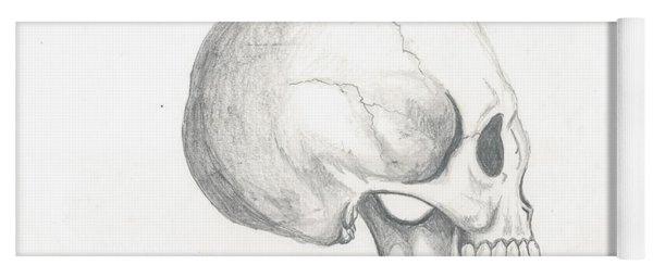 Skull Study Yoga Mat