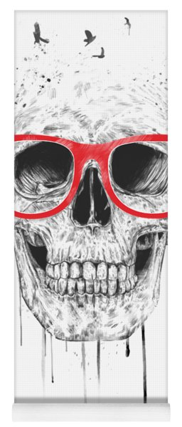 Skull With Red Glasses Yoga Mat