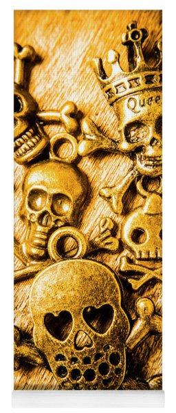Skulls And Crossbones Yoga Mat