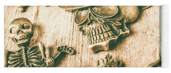 Skulls And Pieces Yoga Mat