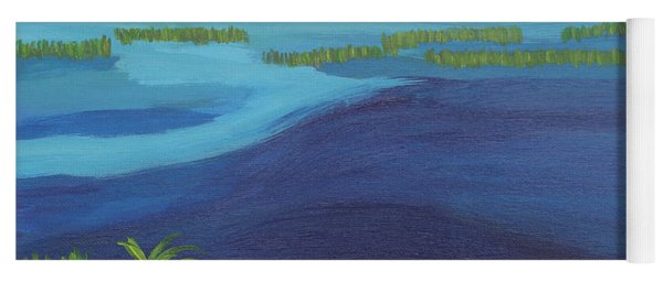 Serene Blue Lake Yoga Mat