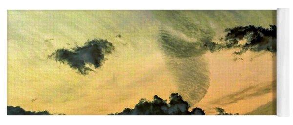 Cloud Art Inverted Colors Yoga Mat