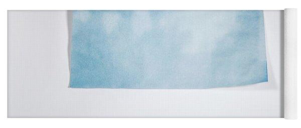 Sky Blue On White Yoga Mat