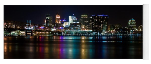 Skyline At Night Yoga Mat