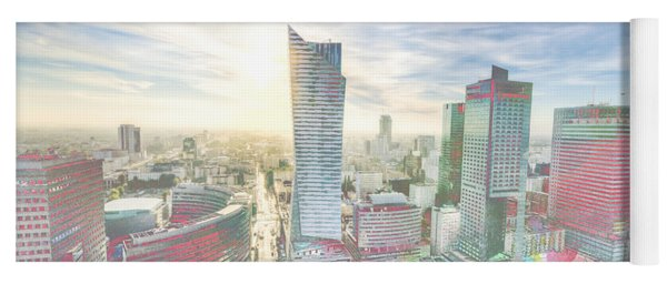 Skyline Of Warsaw Poland Yoga Mat
