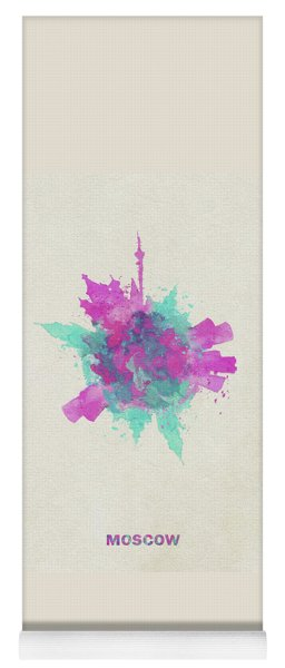 Skyround Art Of Moscow, Russia Yoga Mat