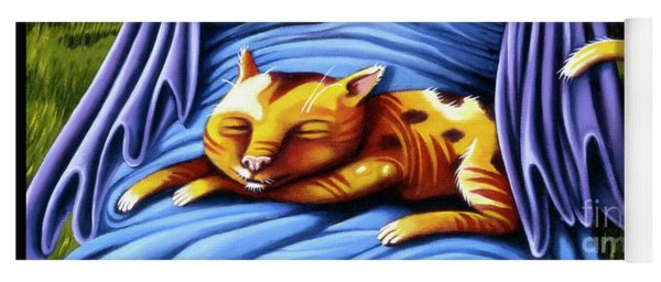 Yoga Mat featuring the painting Sleeping Kitty by Valerie White
