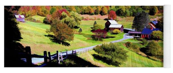 Sleepy Hallow Farm, Woodstock, Vermont Yoga Mat