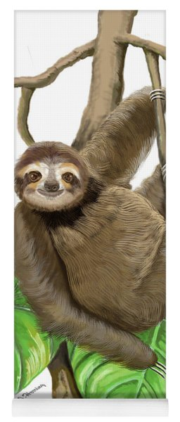 Hanging Three Toe Sloth  Yoga Mat