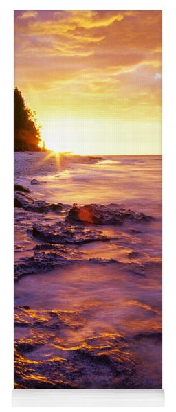 Yoga Mat featuring the photograph Slow Ocean Sunset by T Brian Jones