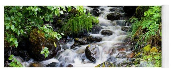 Small Alaskan Waterfall Yoga Mat