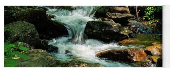 Small Waterfall Georgia Mountains Yoga Mat