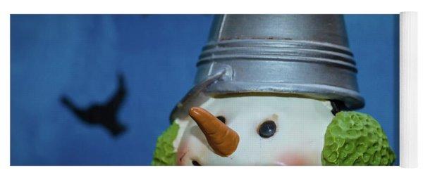 Smiling Snowman Yoga Mat