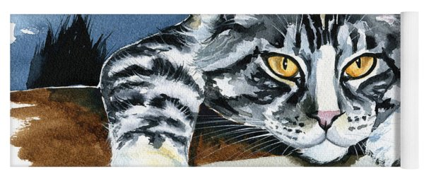 Smilla - Maine Coon Cat Painting Yoga Mat
