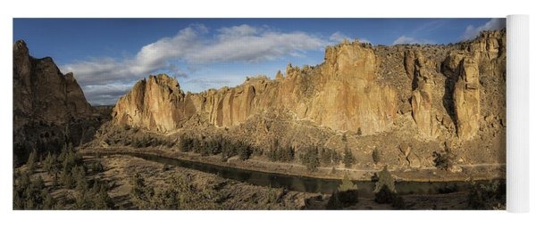 Smith Rock And Crooked River Panorama Yoga Mat