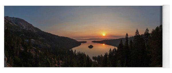 Smokey Sunrise At Emerald Bay Yoga Mat