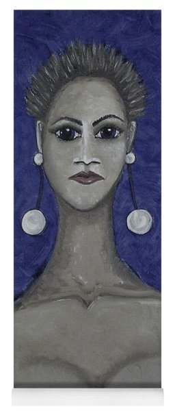 Smoking Woman 3 - Blue Yoga Mat