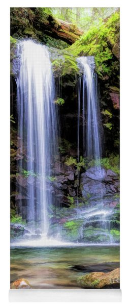 Yoga Mat featuring the painting Smoky Mountains Grotto Falls by Christopher Arndt