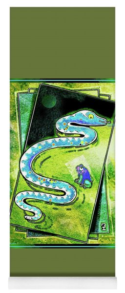 Snake And Frog Friends Yoga Mat