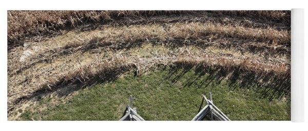 Snake-rail Fence And Cornfield Yoga Mat