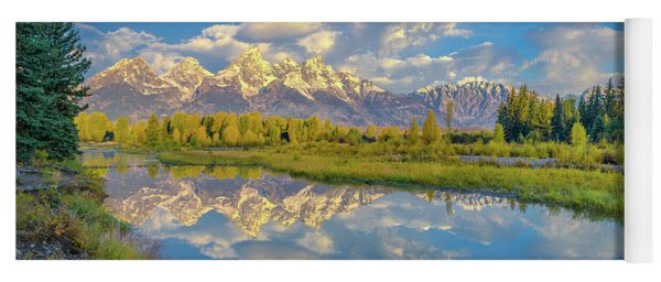 Snake River Reflection Grand Teton Yoga Mat
