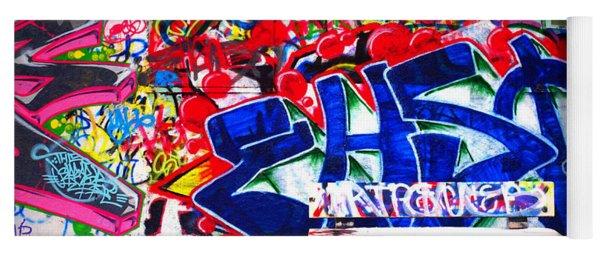 Snow And Graffiti Yoga Mat