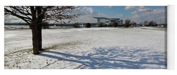 Snow And Sunshine On Epsom Downs Surrey 5 Yoga Mat