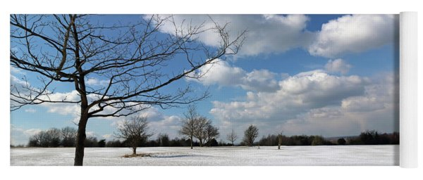 Snow And Sunshine On Epsom Downs Surrey 8 Yoga Mat