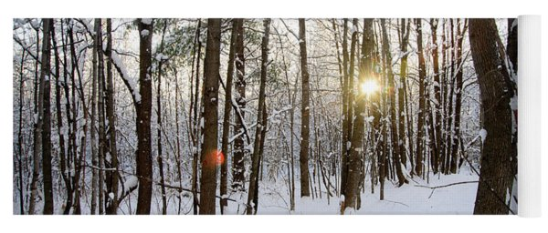 Snow And Trees Yoga Mat