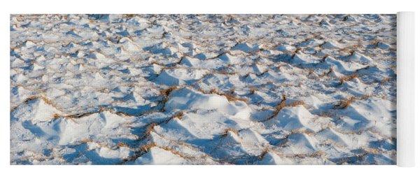 Snow Covered Grass Yoga Mat