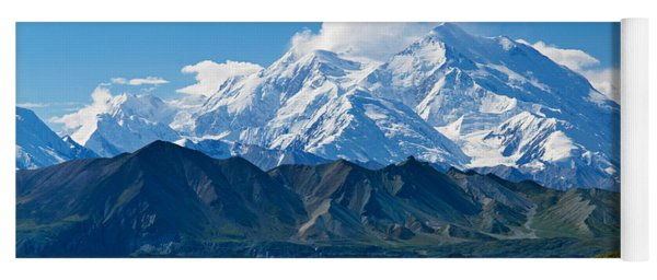 Snow-covered Mount Mckinley, Blue Sky Yoga Mat