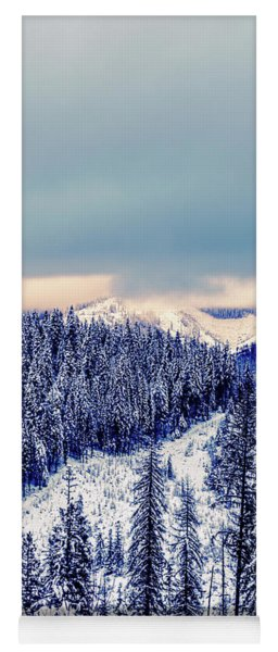 Snow Covered Mountains Yoga Mat
