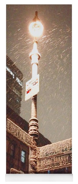 Snow Covered Signs - New York City Yoga Mat