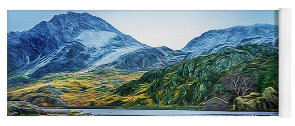 Snow Covered Tryfan Yoga Mat