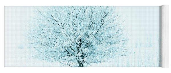 Snow Field Tree Yoga Mat
