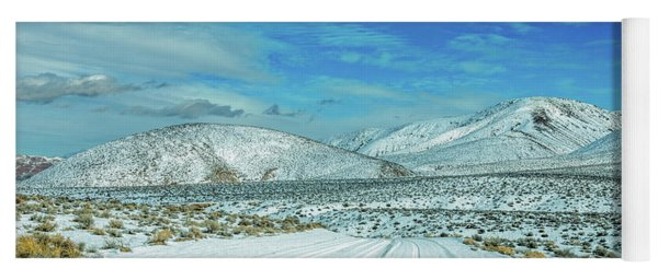 Snow In Death Valley Yoga Mat