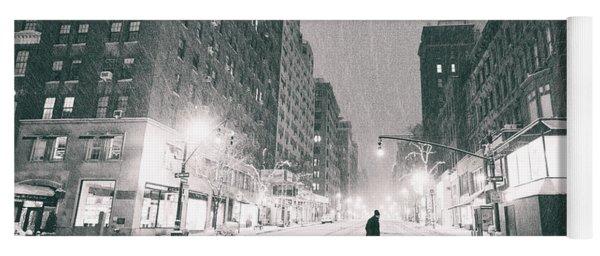 Snow In New York City Yoga Mat