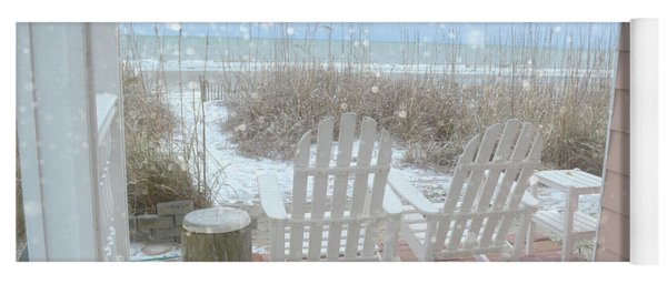 Snow On The Beach 4 Yoga Mat