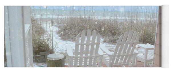 Snow On The Beach 4 Yoga Mat