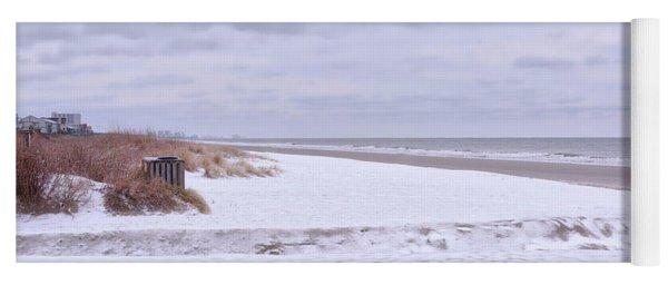 Snow On The Beach I Yoga Mat