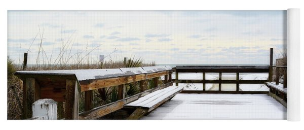 Snow On The Beach 5 Yoga Mat