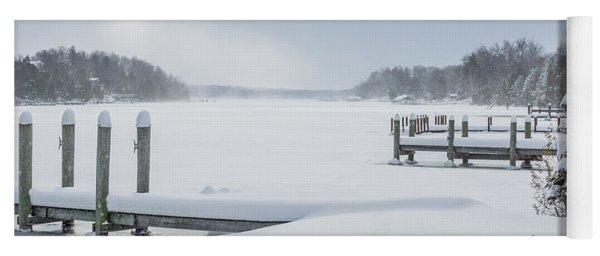 Snow On The Lake Yoga Mat