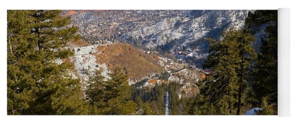 Snow On The Manitou Incline In Wintertime Yoga Mat