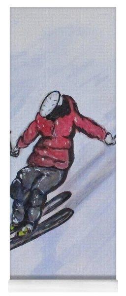 Snow Ski Fun Yoga Mat