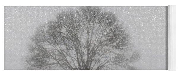 Snow Storm Tree Yoga Mat