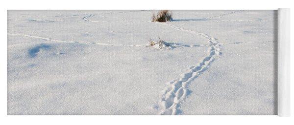 Snow Tracks Yoga Mat