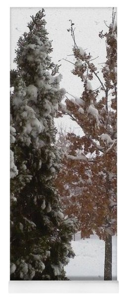 Yoga Mat featuring the photograph Snow Trees by Jimmy Clark