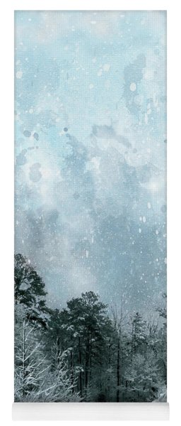 Snowfall Yoga Mat
