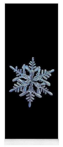 Snowflake Macro Photo - 13 February 2017 - 1 Black Yoga Mat
